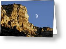 Moonrise Over Grand Canyon Greeting Card