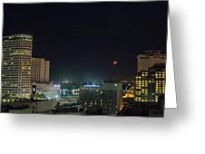 Moonrise Over New Orleans Greeting Card