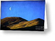 Moonrise Over Queenstown Greeting Card