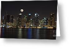 Moonrise Over San Diego Greeting Card