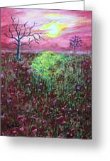 Moonrise Poppies Greeting Card