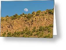 Moonrise Rio Grande Gorge Pilar New Mexico Greeting Card