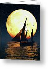 Moonsailor Greeting Card