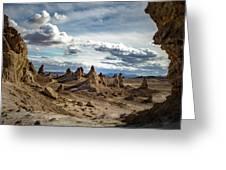 Moonscape Pinnacles Greeting Card