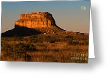 Moonset At Fajada Butte Greeting Card