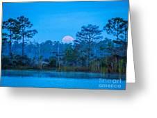 Moonset At The Hungryland Greeting Card