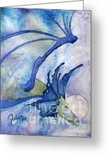 Moonstone Dragon - Sold Greeting Card