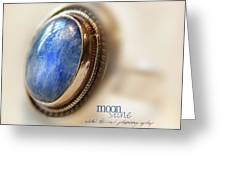 Moonstone Greeting Card by Vicki Ferrari