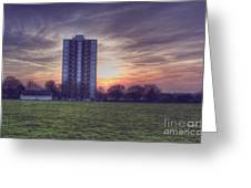 Moor Tower Sunset Greeting Card