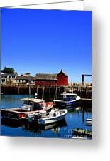 Moored Boats Greeting Card