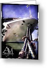 Moored Cruiseship Greeting Card