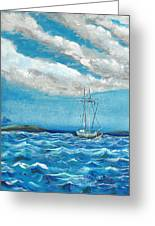 Moored In The Bay Greeting Card