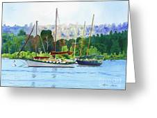 Moored Ketch Greeting Card
