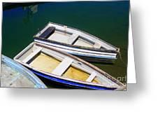 Moored Rowboats Greeting Card