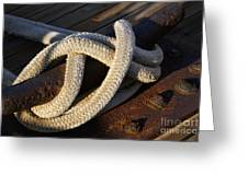 Mooring Rope Made Fast Greeting Card