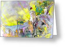 Moorish Castle In Sintra 01 Greeting Card