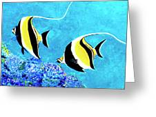 Moorish Idol Fish  #50 Greeting Card