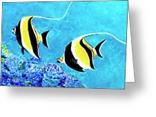 Moorish Idol Fish  #50 Greeting Card