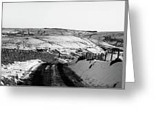 Moorland In The Snow Greeting Card