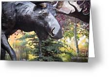 Moose In Vail Greeting Card