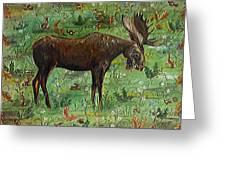 Moose Tapestry Greeting Card