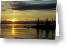 Moosehead Lake Sunrise Greeting Card