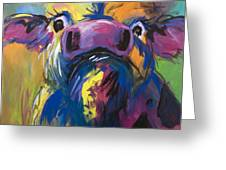 Moove Aside Greeting Card