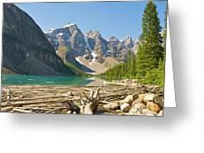 Moraine Lake - Canadian Rockies Greeting Card