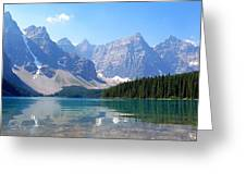 Moraine Lake Down Low Greeting Card