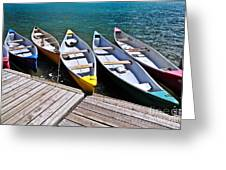 moraine lake in banff national park, alberta, Canada Greeting Card