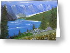Moraine Lake, 16x20, Oil, '07 Greeting Card