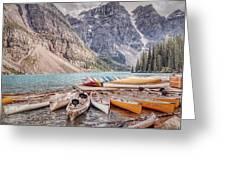 Moraine Lake Transportation  Greeting Card