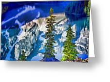 Moraine Reflections Greeting Card