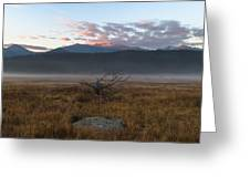 Moraine Valley Fog Greeting Card