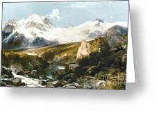 Moran: Teton Range, 1897 Greeting Card