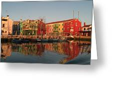 Morano Island In Venice Greeting Card