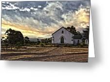Moravian Sunset Greeting Card