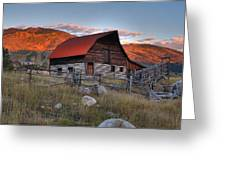 More Barn Steamboat Greeting Card