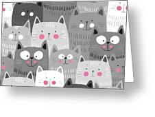More Cats Greeting Card
