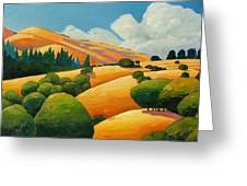 More Clouds Over Windy Hill Greeting Card