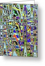 More Colors Abstract Greeting Card