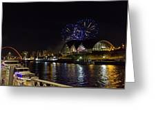 More Fireworks At Newcastle Quayside On New Year's Eve Greeting Card