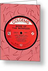 More Of The Monkees Lp Label Greeting Card