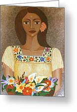 More Than Flowers She Sold Illusions Greeting Card