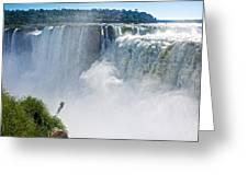 More Waterfalls At Devil's Throat In Iguazu Falls National Park-  Greeting Card