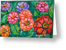 More Zinnias Greeting Card