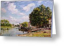 Moret-sur-loing Greeting Card by Alfred Sisley