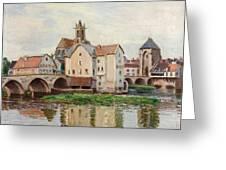 Moret-sur-loing. Morning Greeting Card