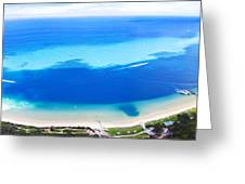 Moreton Island Aerial View Greeting Card