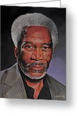 Morgan Freeman Portrait Greeting Card